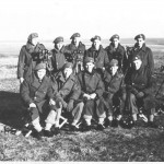 From top left - Tony Harris, Tim Timberlake, Tim Tate-Smith, Alan Rose, Jock Lyon, John Flann, Frank Beame, Ian Styles, Dennis Horgan, Mac Tozer, Jim Dallaway. As Derek Grosvenor is not present presumably he was the photographer. It was cold and bleak out on these ranges in the Autumn. The Simms is on its tripod to the right.