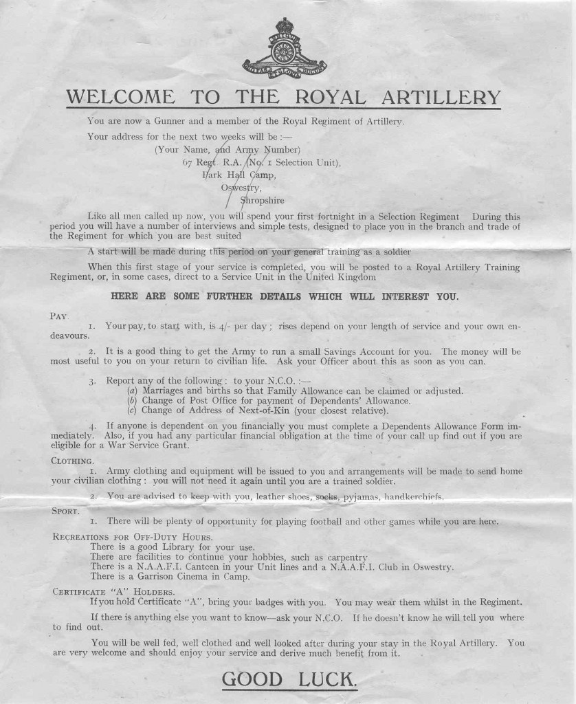 Welcome to the Royal Artillery