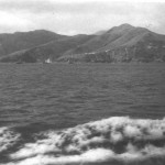 My first view of Hong Kong and the New Territories as HMT Devonshire neared the coast on Sunday February 25 1950.
