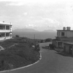 A general view from Stanley Barracks to the south west, on the horizon are the Chinese Communist occupied Lamma Islands. To the left you can see the NAAFI and the cookhouse on the right, also the MI room and behind that more barrack blocks.